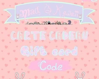 Mad & Kawaii gift card gift card