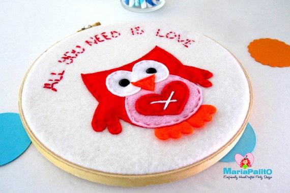 Basket Weaving Supplies Raleigh Nc : Owl embroidery hoop art pattern pdf sewing
