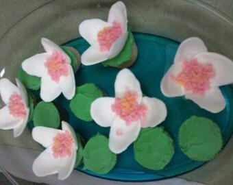 Gumpaste Water Lillies