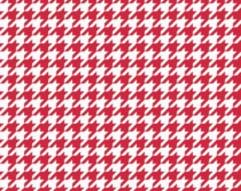 Red Houndstooth fabric by Riley Blake, fat quarter, online quilting fabric Australia
