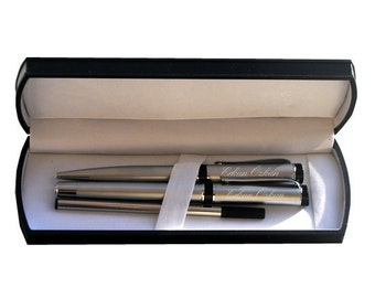 Personalized Pen Set / Custom Engraved Name