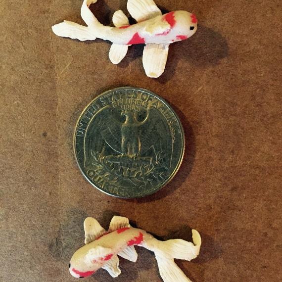 Mini koi fish for fairy garden miniature garden by for Miniature koi fish