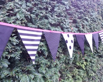 Wedding Bunting Per Metre - Monochrome - Made To Order - Several Colours