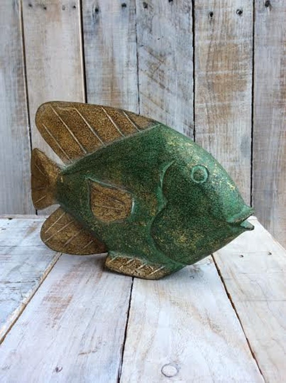 Tropical fish decor fish sculpture fish bathroom decor for Bathroom fish decor