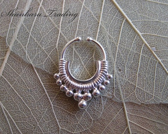 Fake Septum Ring, Tribal Septum Ring, Septum Piercing, Ethnic Septum Ring, Septum Jewellery, Nose Ring, Body Jewelry