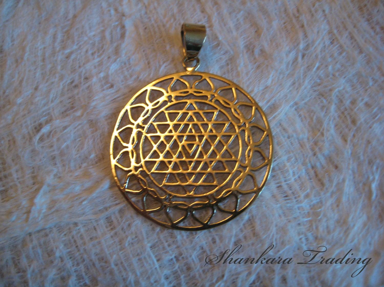 sri yantra mandala pendant sacred geometry pendant