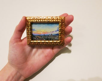 Original miniature oil painting 1:12