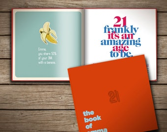 Personalised gift book for 21st birthday (UK Edition)