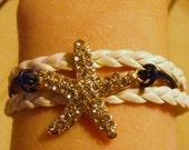 Starfish bracelet, starfish jewelry, beach bracelet, beach jewelry, summer bracelet, summer jewelry, fashion bracelet, fashion jewelry