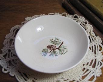 Vintage Porcelain Berry Bowl - Pine Bough Pattern