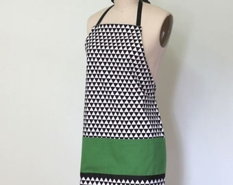 The Lucy Apron - Grosgrain Ribbon Trim Apron - Made in USA -  Limitied Edition -