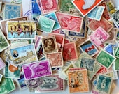 Vintage Stamps Mix International Old Postage - Art Journal Ephemera - Mixed Media Art