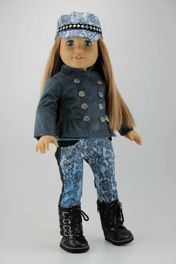 "American Girl doll clothes - Snow club jacket with optional hat, outfit and boots  (fits 18"" doll) (420slat)"