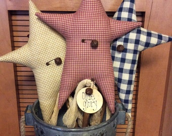 Set of 3!! Primitive Americana star pokes/crock pokes