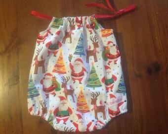 Shoulder tie Christmas Playsuit