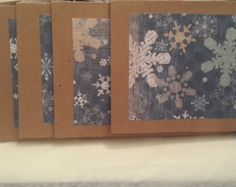 Snowflakes Falling Christmas Cards (set of 5)