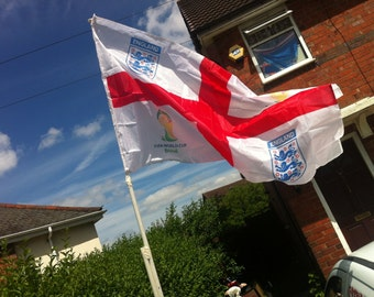 England St. George's Flag 4 Corner Printing Available or Personalised