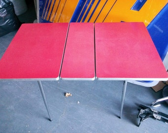 Vintage folding aluminium table and Ant