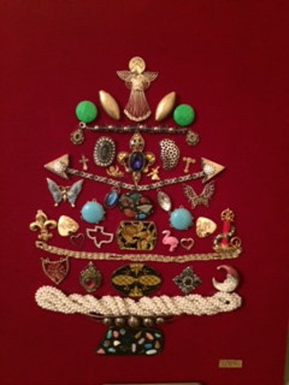 Jewelry Christmas Tree Art
