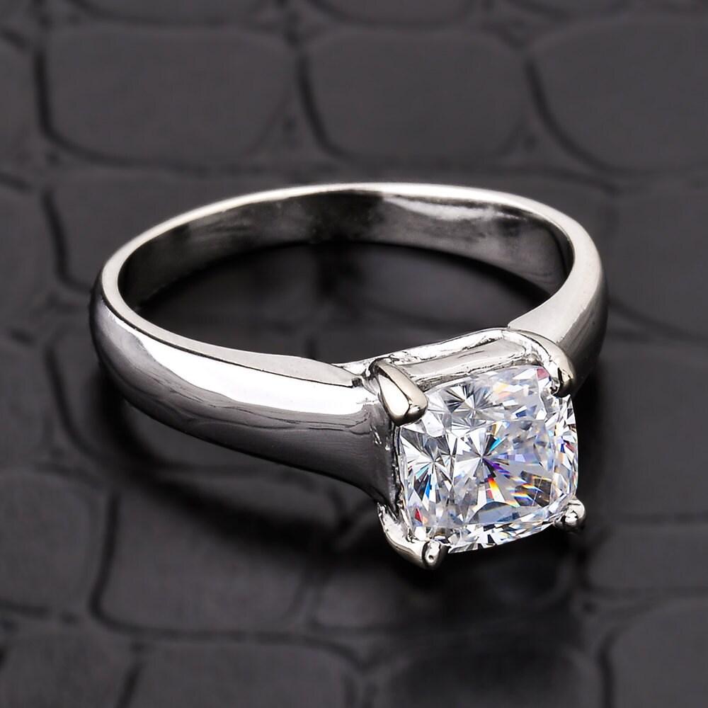 engagement ring gold cz engagement ring 14k white gold cz