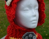 PATTERN: Paw Patrol Marshall Inspired Hooded Cowl