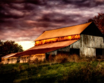 Missouri Barn. Photographic print 8x10, 11x14