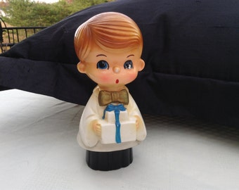 Boy with Gift Figurine Japan