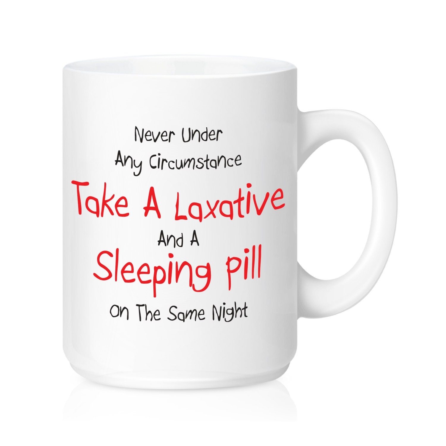 laxative coffee mug sleeping pill ceramic mug funny coffee. Black Bedroom Furniture Sets. Home Design Ideas