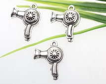 Own charm~Hair dryer charms,Antique silver Hair dryer Charms/pendants 26*25mm