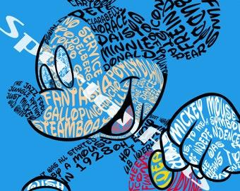 Disney Typography: Mickey Mouse
