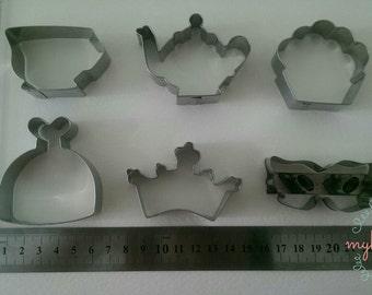 Tea Party Metal Cutter 6  pcs/set