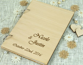 Personalized Wedding/ Anniversary/ Bridal Shower Guest Book, Advice Book, Custom Gift, Gift for couple,  Memory Book, Rustic Chic Wedding