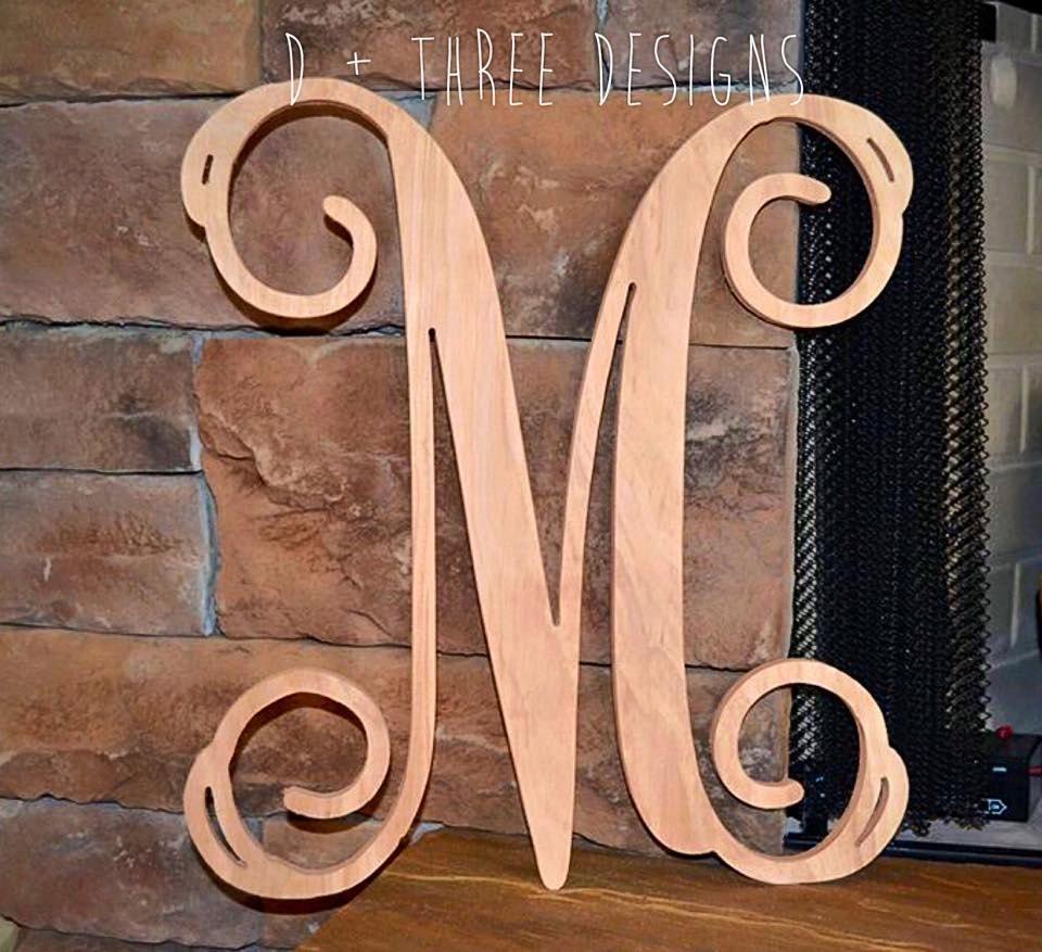 22 Inch Single Monogram Wooden Letter