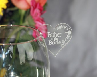 Wedding / Party Name Places for Wine Glasses in Acrylic