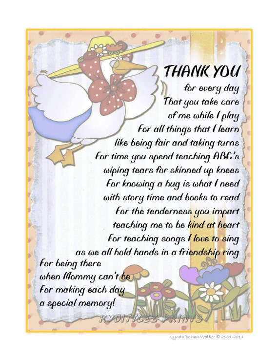 Preschool Teacher Thank You Quotes. QuotesGram