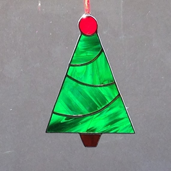 Stained glass christmas tree by foxstainedglass on etsy