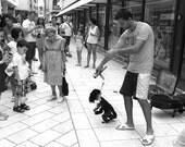 Croatia Photography, Black and White Wall Art, B W Wall Decor, Street Photography