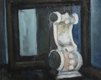 Vintage Impressionist still life oil painting
