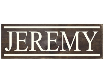 Personalized Wood Name Sign / Rustic Wooden Plaque / Name Decor / Child Bedroom Decor (#1665)