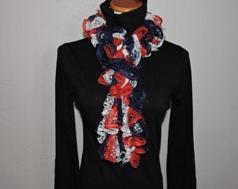 Red, White & Blue / 4th of July Ruffle Scarf