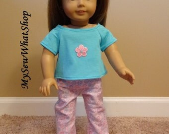 American Girl Doll 2 Piece Pajama Set