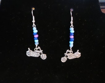 Handbeaded Motorcycle Earrings