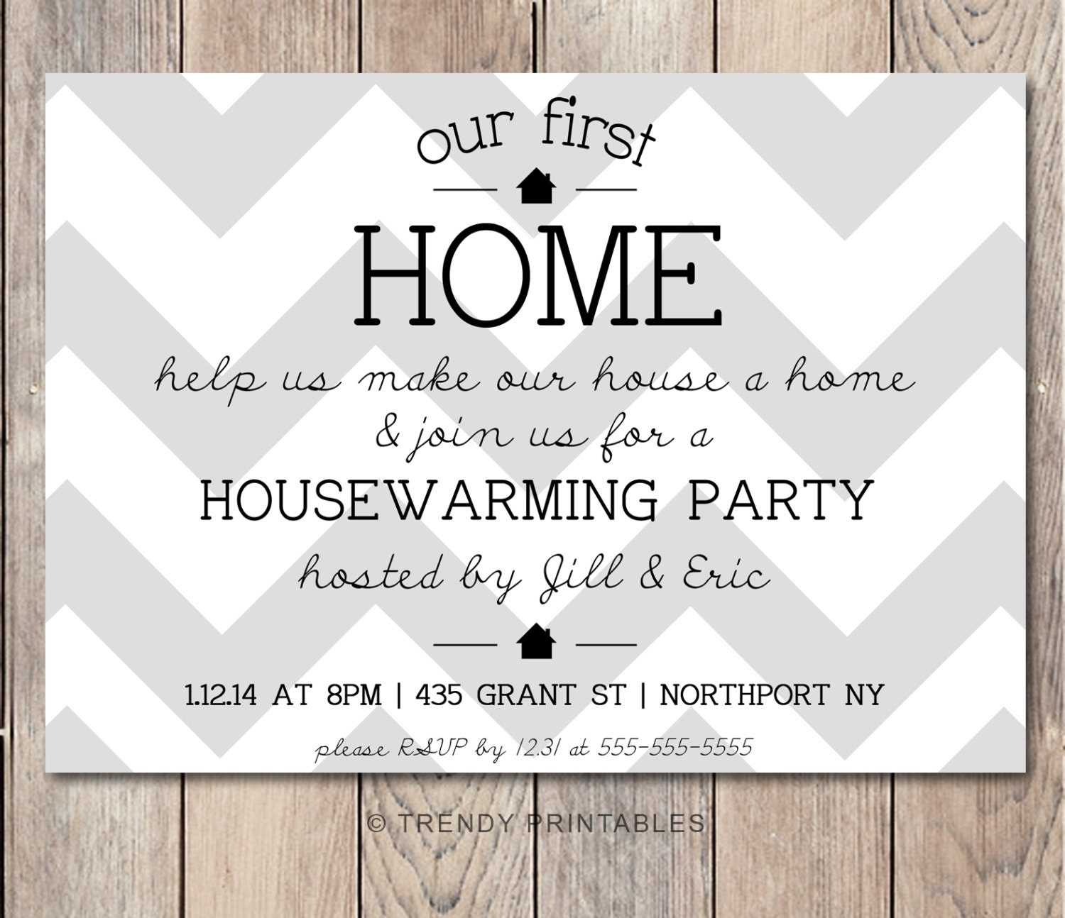 housewarming party invitation housewarming by trendyprintables. Black Bedroom Furniture Sets. Home Design Ideas