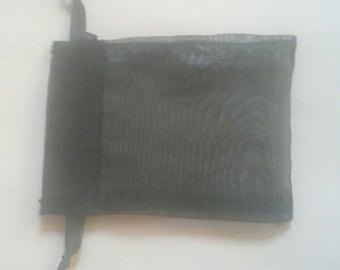 100 Black Organza Bags 3 x 4 favor bags wedding packaging beads, herbs
