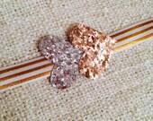 The Silver & Gold Glitter Hearts Baby/Girls Headband