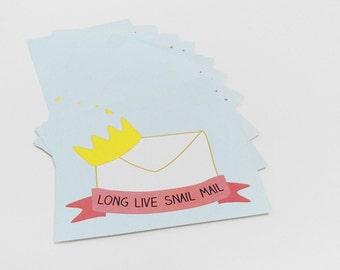 Snail mail postcard, Mint card - Set of 10