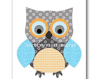 Owl Decor Owl Nursery Printable Art Instant Download Digital Art Digital Baby Room Decor Digital Download Baby Boy Nursery Art 8x10 11X14