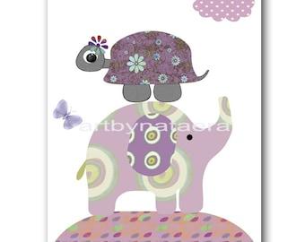Instant Download Print Playroom Decor Printable Art Digital Download Elephant Nursery Art Digital Art Baby Girl Nursery Art 8x10 11X14