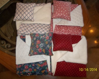 Bedspreads and throw pillows for American Girl type dolls