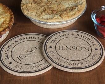Personalized Kitchen Hot Pads - Set of 2! - Jenson Style 7 inch
